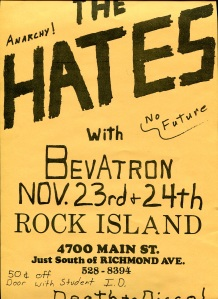 Bevatron (with Allison Fischer), Rock Island, Houston, TX, likely 1979