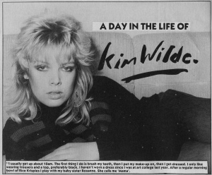 Kim Wilde profile, Flexipop