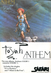 "Toyah ""Anthem"" advert, Safari Records, Flexipop back cover"