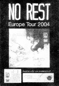 No Rest (with Aline), Europe Tour 2004 flyer