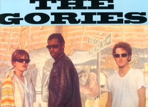 "The Gories (with Peg O'Neil) ""Outta Here"" front cover detail, Crypt LP 030, 1992"
