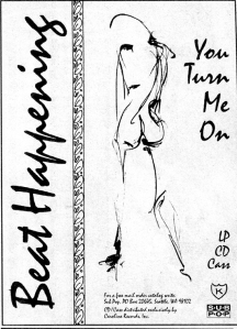 "Beat Happening (with Heather Lewis) ""You Turn Me On"" Sub Pop advert, Flipside, No. 102, 1992"