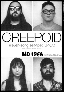Creepoid (with Anna Troxell) advert, Trust, April/May 2014, No. 165