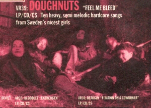 "Doughnuts ""Feel Me Bleed"" advert, Victory Records, Flipside No. 102, 1992"
