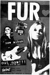 Fur album advert, Blackout Records,  Flipside No. 102, 1992