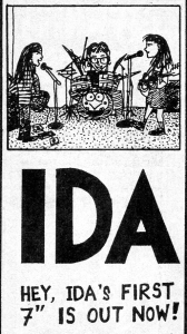 "Ida 7"" advert, Maximum Rocknroll, No. 81, April 1990"