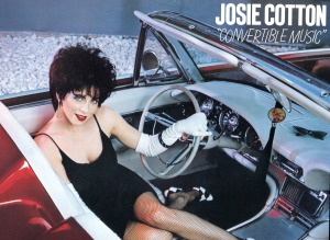 "Josie Cotton ""Convertible Music"" LP detail, Elektra, 1982"
