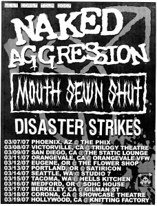 Naked Aggression (with Kirsten Patches), 2007 tour calendar flyer