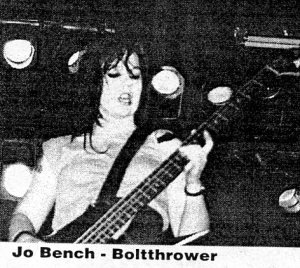 Bolt Thrower (with Jo bench), Flipside, No. 81, 1992