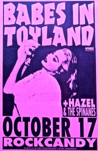Babes in Toyland, Hazel, and the Spinanes at Rockcandy in Portland, OR