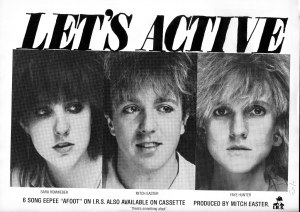 "Let's Active (with Sara Romwebber), ""Afoot"" advert. IRS, Trouser Press, No. 94"