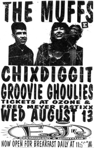 The Muffs (with Kim Shattuck) and Groovie Ghoulies (with Kepi Ghoulie and Wendy Powell) at EJs in Portland, OR