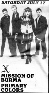 X at the Cyclorama in Boston, 1982, from Boston Rock No. 30