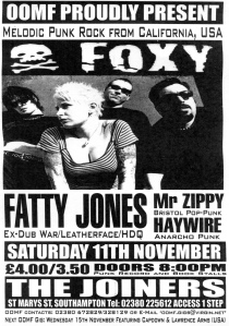 Foxy at the Joiners in Southampton, England, circa 2003