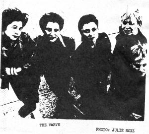 The Varve in Punk Globe, Jan. 1982,