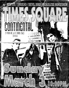 Times Square (with Jill Mathews) at the Continental, NYC, circa 1996