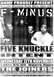 F-Minus (with Jen Johnson) at The Joiners in Southampton, England