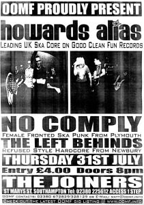 NoComply (with Kelly Kemp), at The Joiners in Southampton, UK, circa 2003
