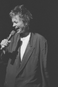 Laurie Anderson at Gallery 3221 in Houston, TX, by Ben DeSoto